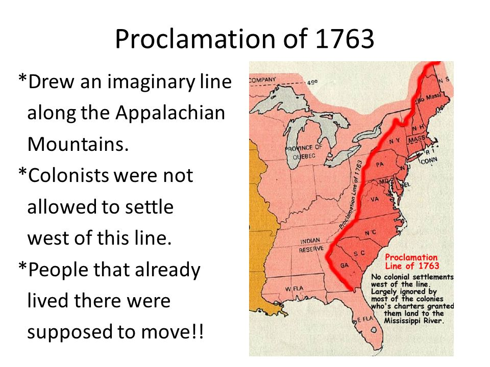 essay on proclamation of 1763 Combined with parliament's other unreasonable acts like the proclamation of  1763 and the quebec act, colonists became concerned about the increasingly.