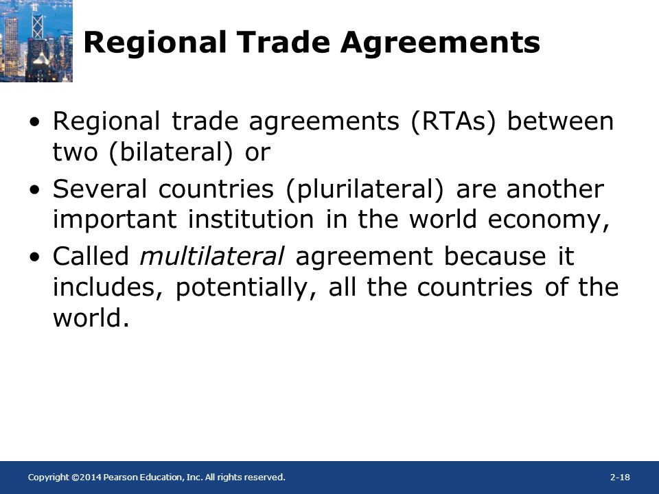 bilateral trade and multilateral trade agreements
