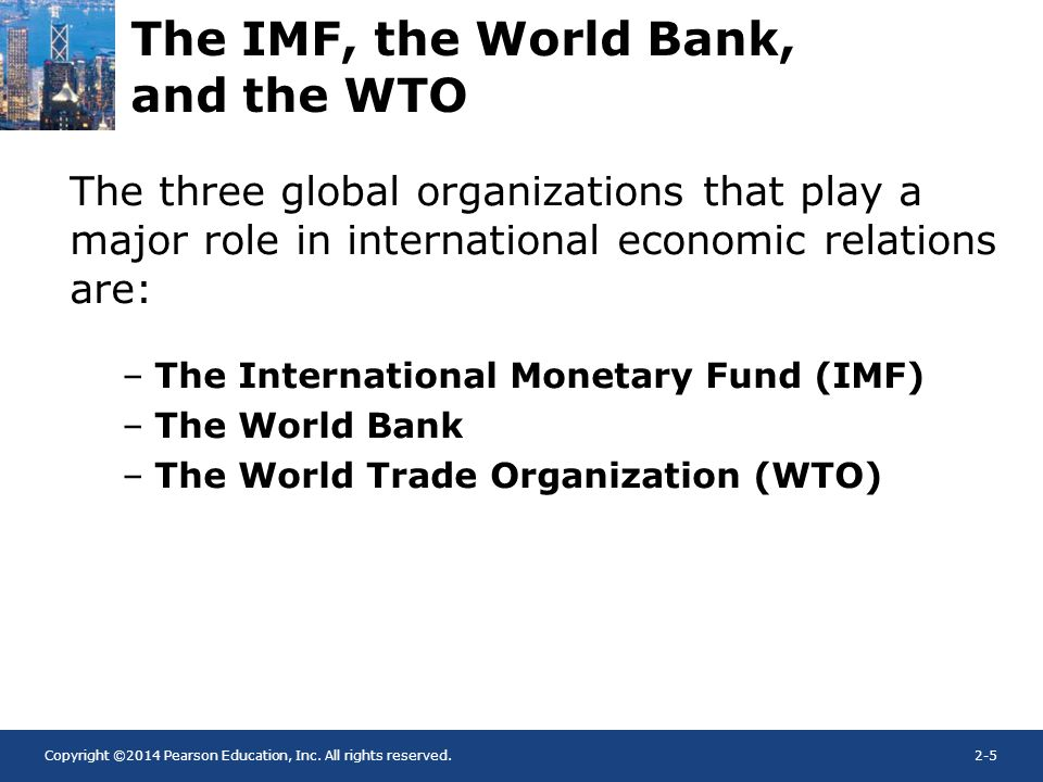 the challenges the imf wto and 3 1 challenges facing the world trade organization jeffrey j schott the agreement establishing the world trade organization (wto) entered into force on 1 january 1995.