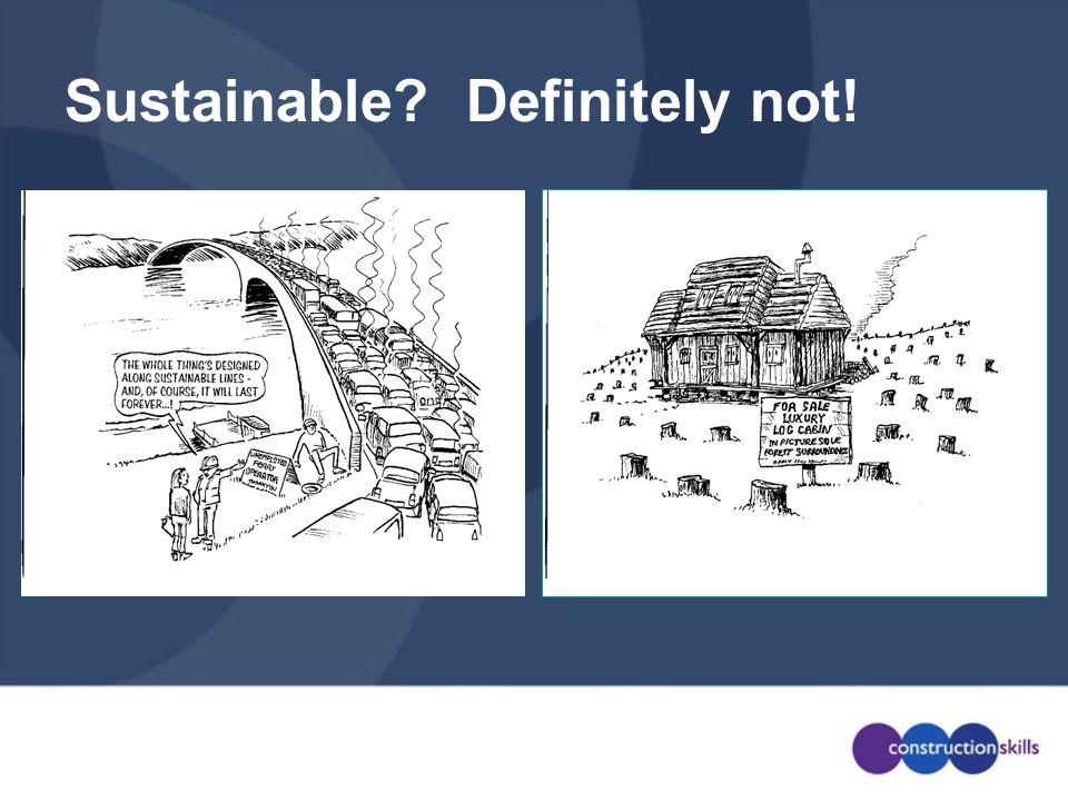Sustainable Definitely not!