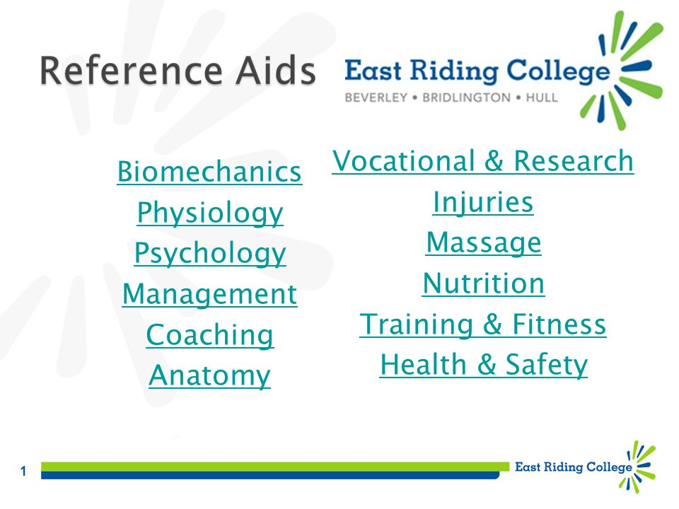 Vocational & Research Injuries. Massage. Nutrition. Training & Fitness. Health & Safety. Biomechanics.