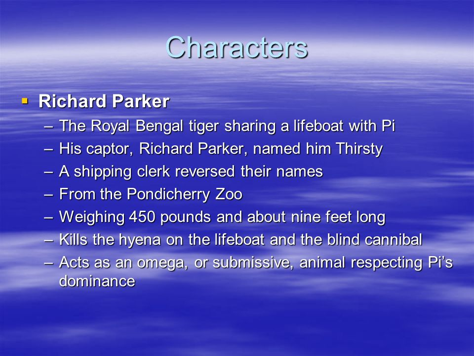 Life of pi introduction ppt video online download for Life of pi name