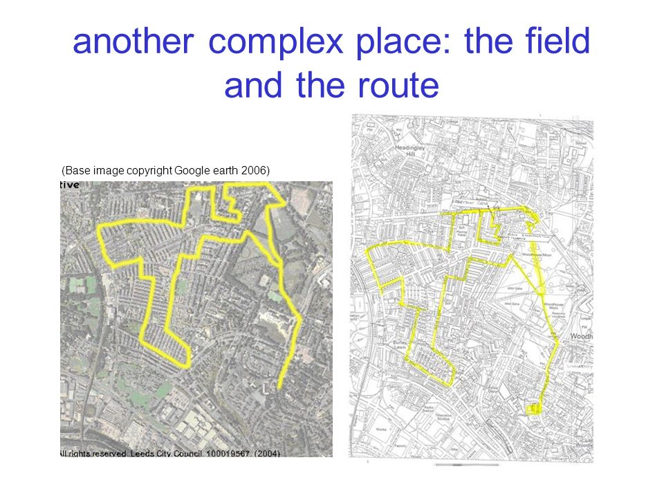 another complex place: the field and the route