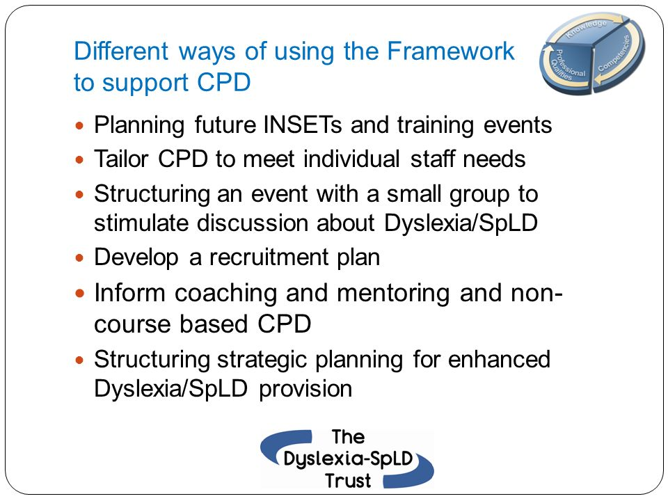 Different ways of using the Framework to support CPD