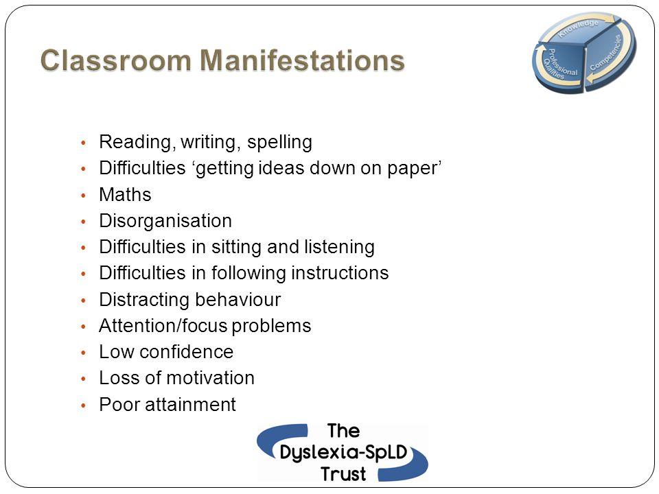 Classroom Manifestations
