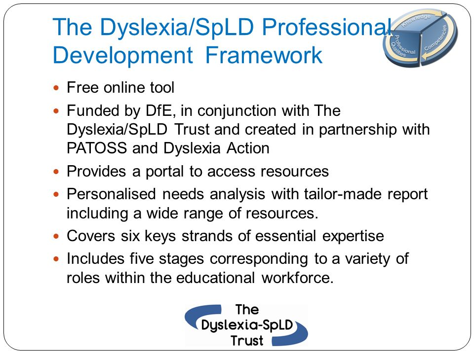 The Dyslexia/SpLD Professional Development Framework