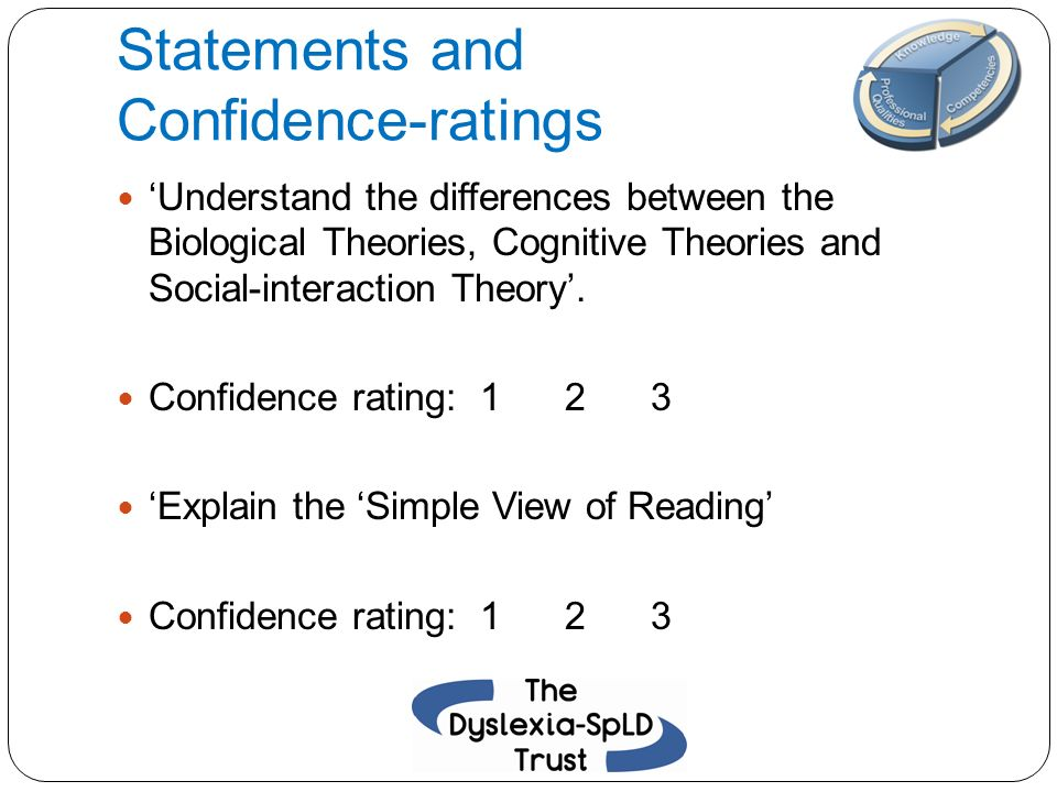 Statements and Confidence-ratings