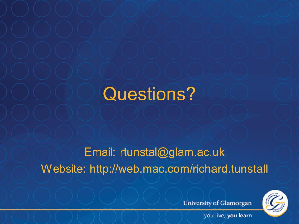 Website: http://web.mac.com/richard.tunstall
