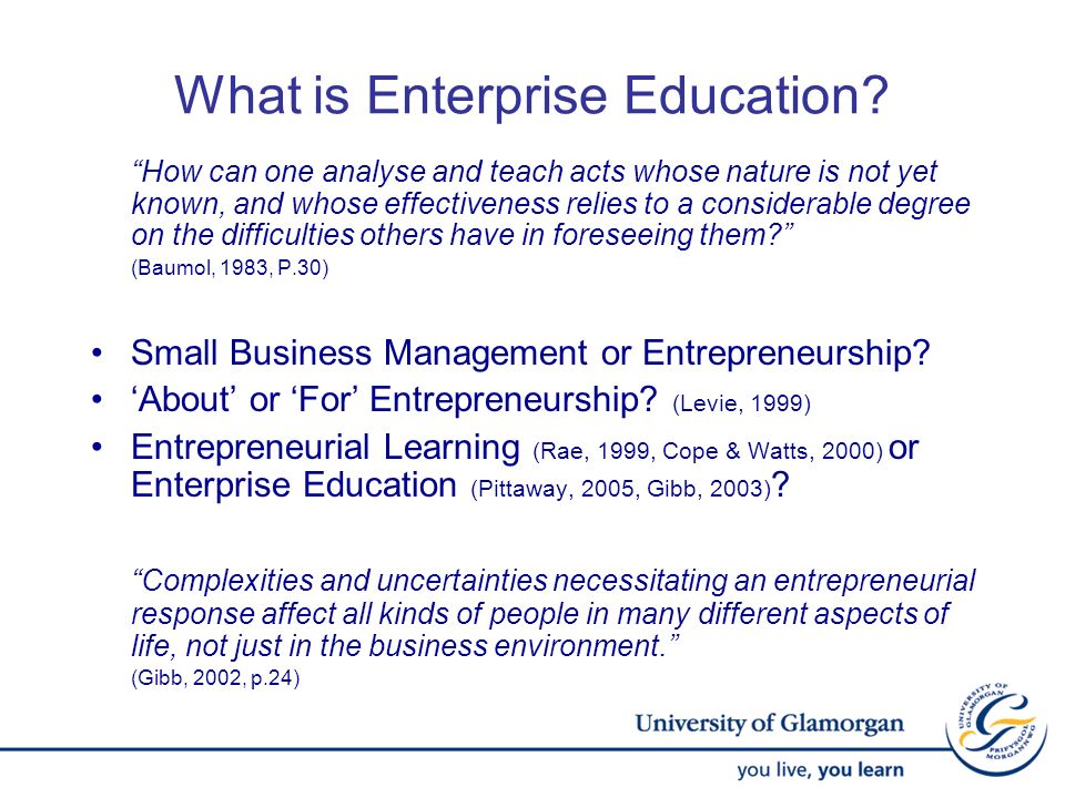 What is Enterprise Education