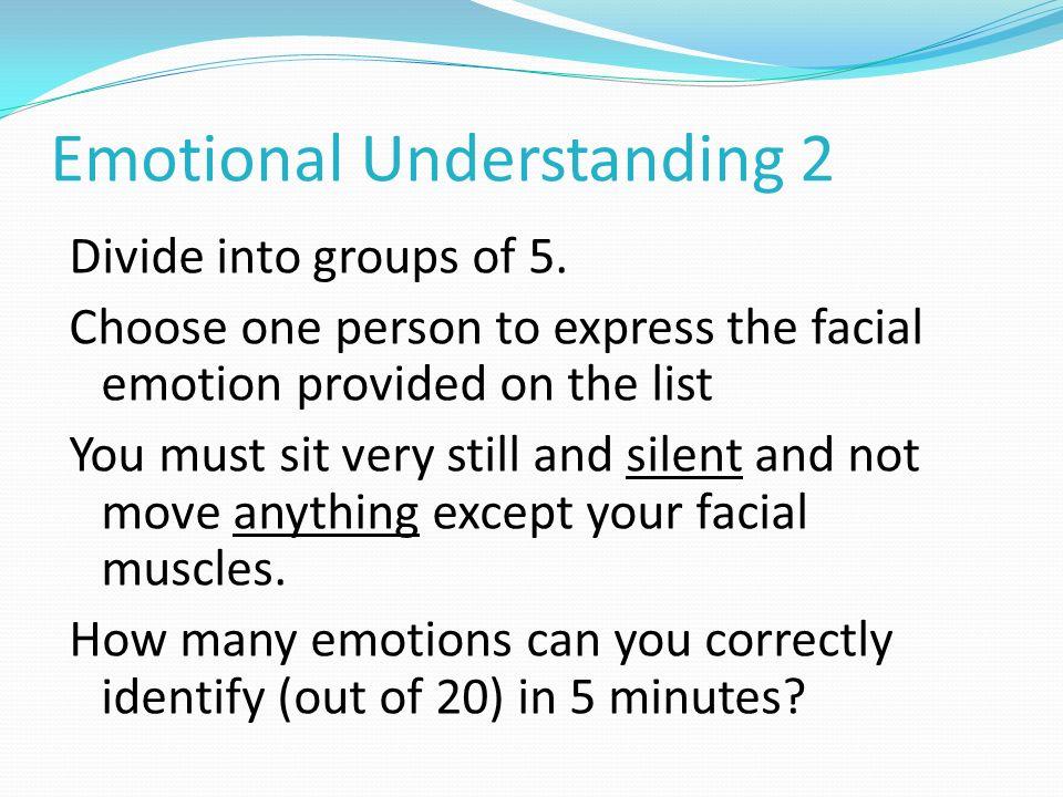 Emotional Understanding 2