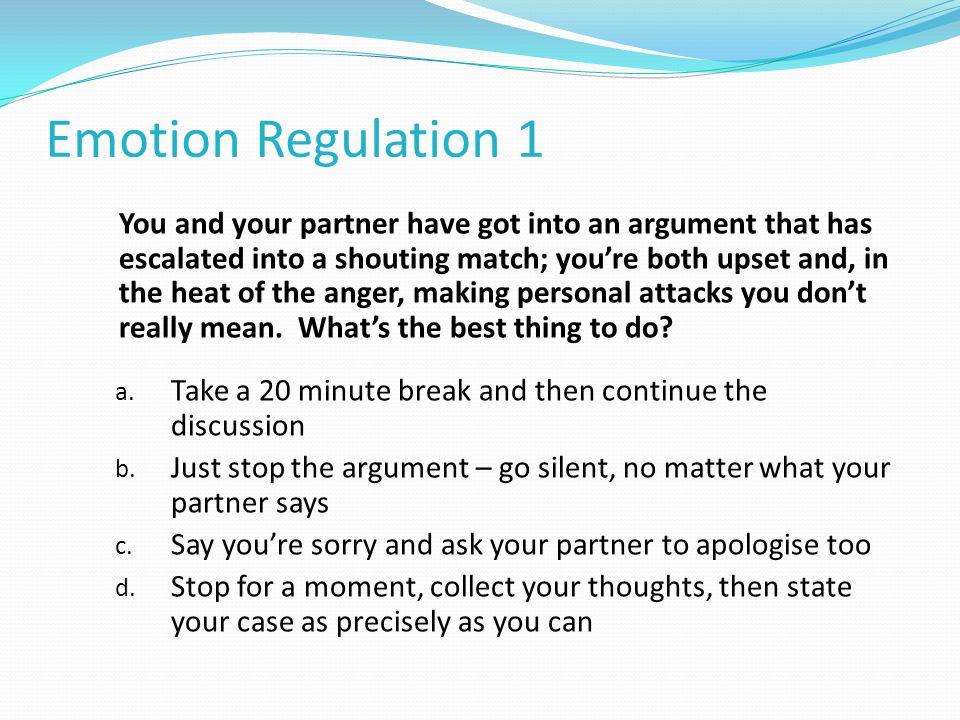Emotion Regulation 1