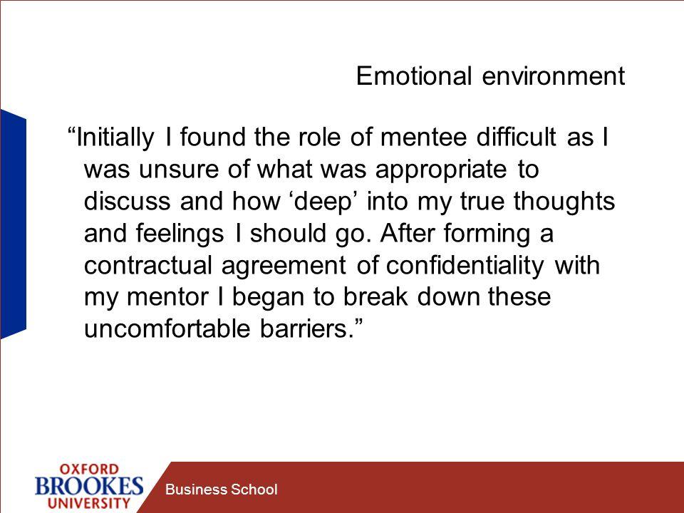 Emotional environment