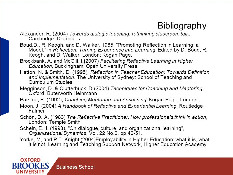 Bibliography Alexander, R. (2004) Towards dialogic teaching: rethinking classroom talk. Cambridge: Dialogues.
