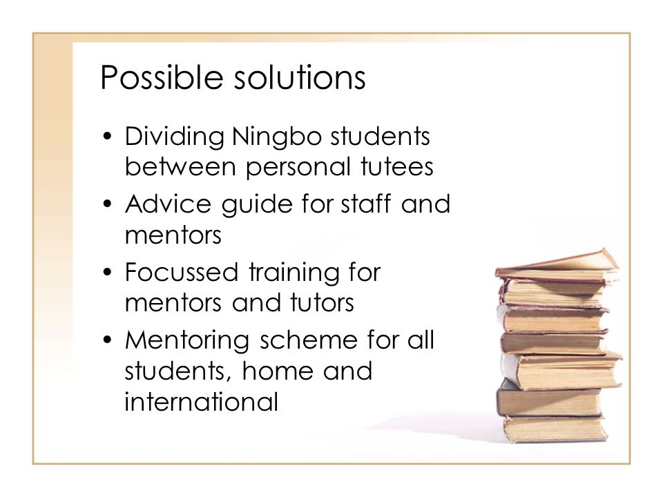 Possible solutions Dividing Ningbo students between personal tutees