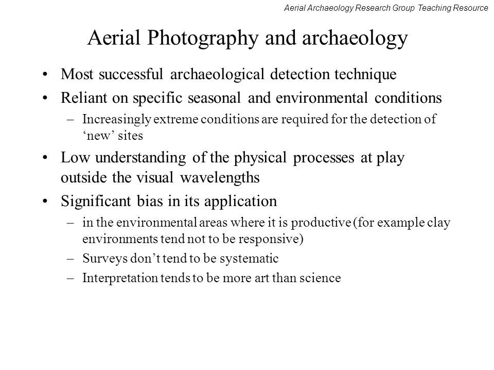 Aerial Photography and archaeology