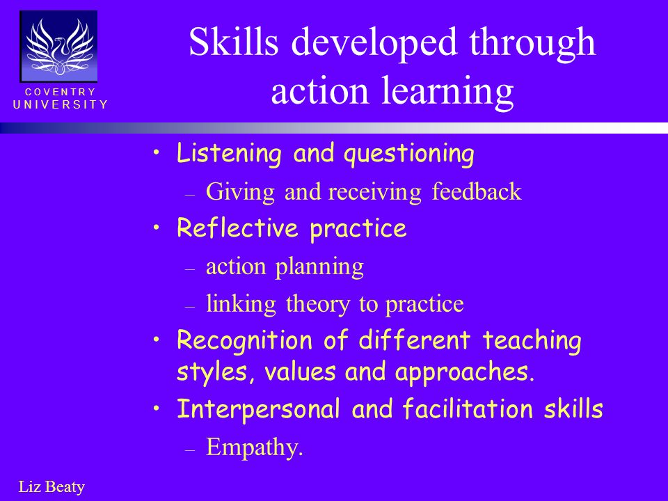 Skills developed through action learning