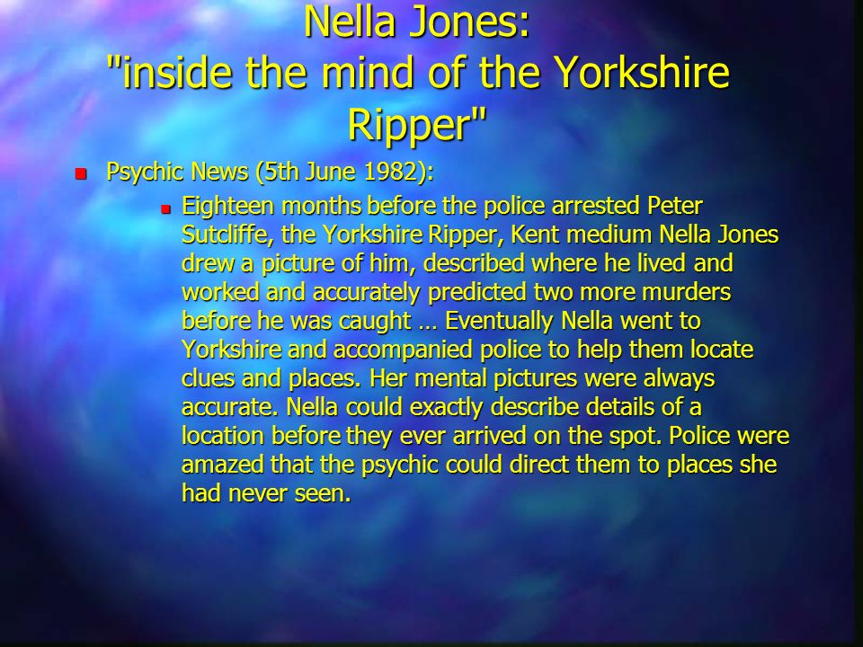 Nella Jones: inside the mind of the Yorkshire Ripper