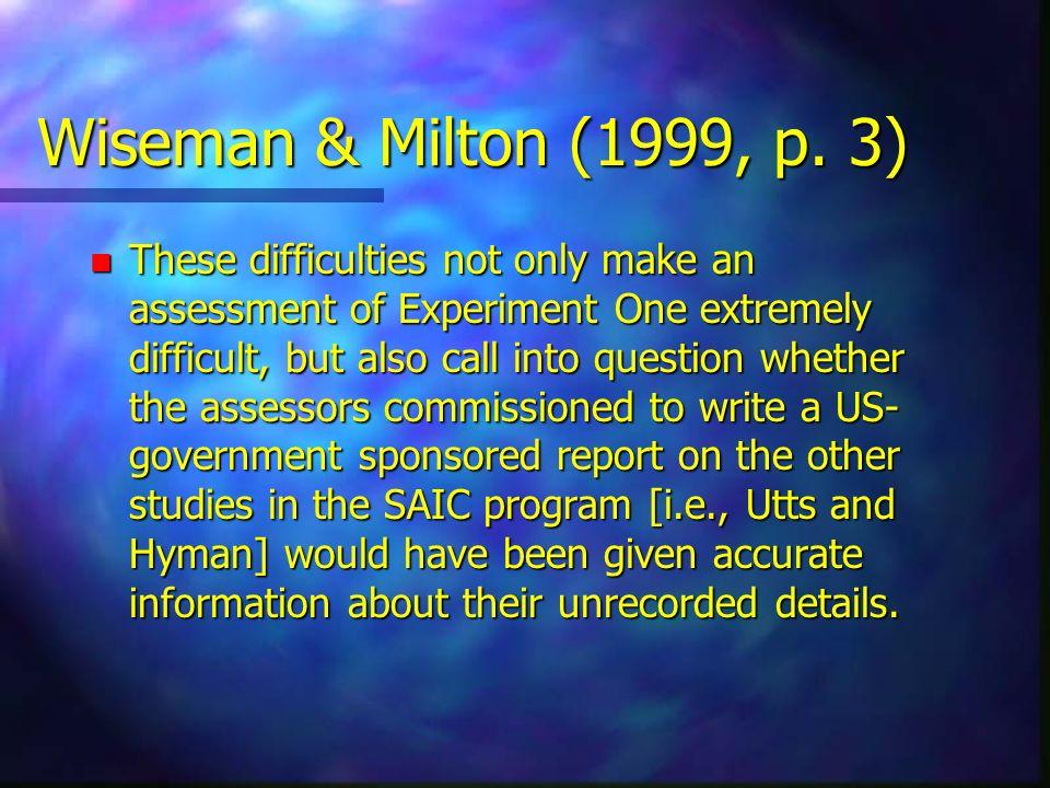 Wiseman & Milton (1999, p. 3)