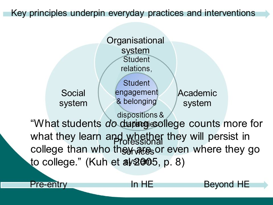 Key principles underpin everyday practices and interventions