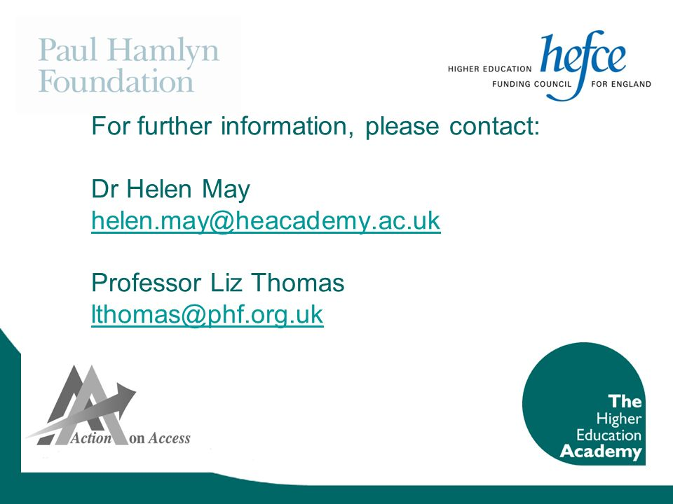 For further information, please contact: Dr Helen May helen