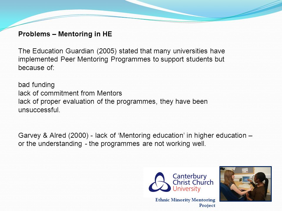 Problems – Mentoring in HE