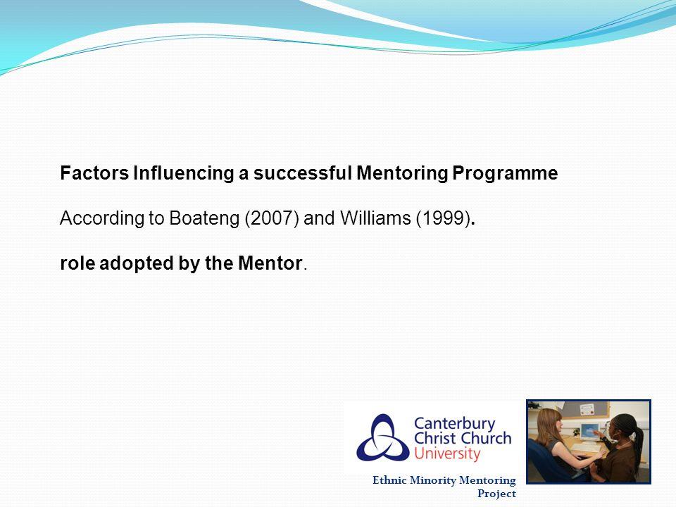 Factors Influencing a successful Mentoring Programme