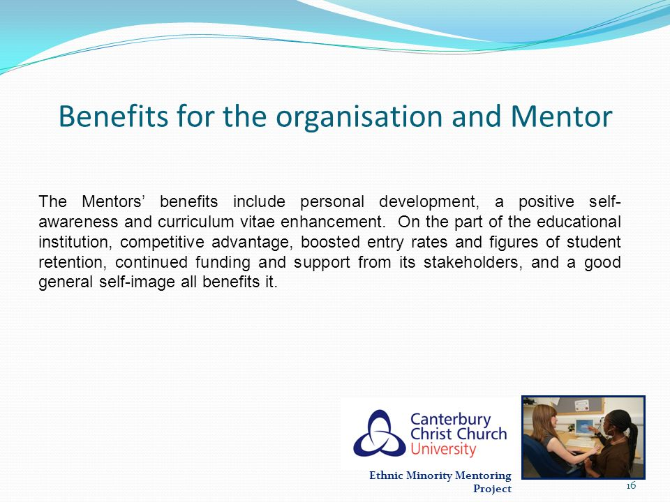 Benefits for the organisation and Mentor