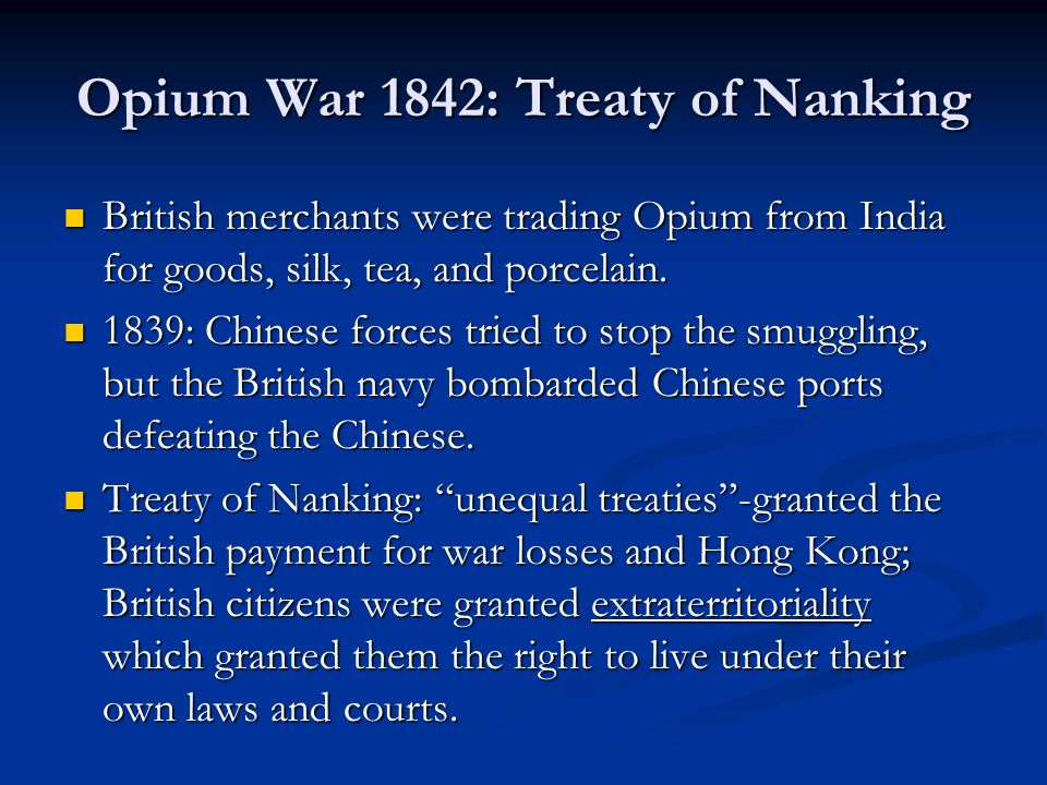 Opium War 1842: Treaty of Nanking