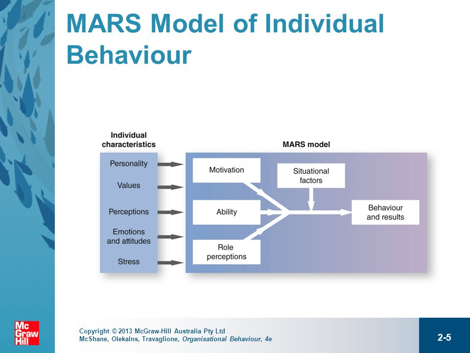 mars model of individual Free essays on use the mars model of individual behavior and performace to diagnose the posible cuases of the unacceptable bhavior for students 1 - 30.