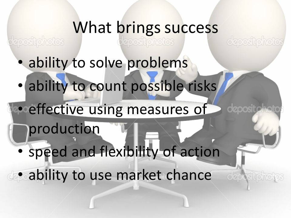 What brings success ability to solve problems