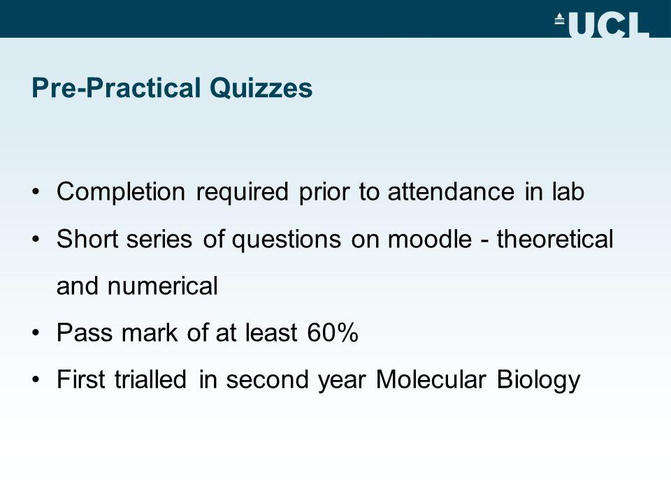 Pre-Practical Quizzes