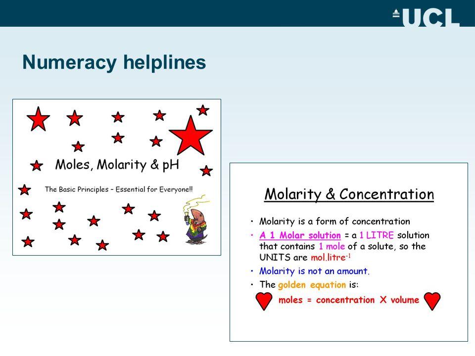 Numeracy helplines