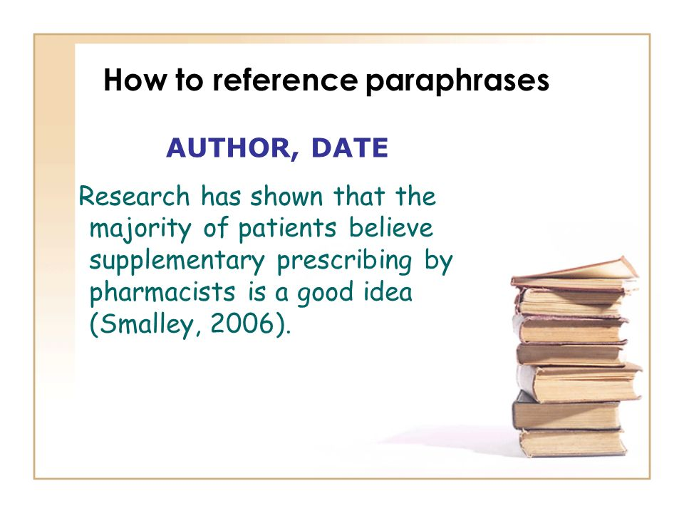 How to reference paraphrases