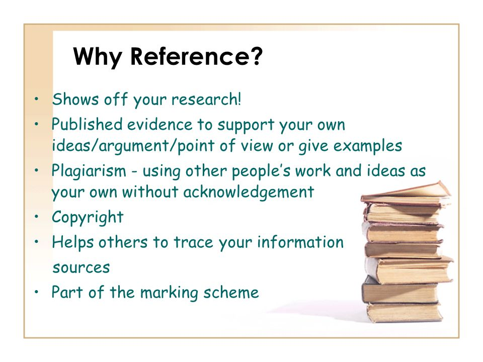 Why Reference Shows off your research!