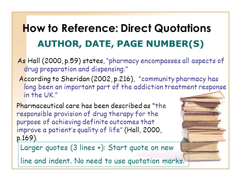 How to Reference: Direct Quotations