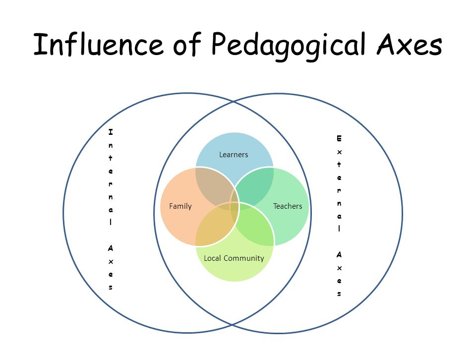 Influence of Pedagogical Axes
