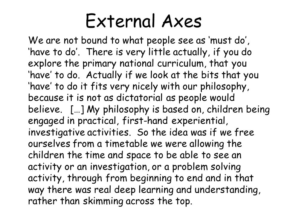 External Axes