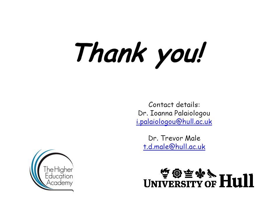 Thank you! Contact details: Dr. Ioanna Palaiologou