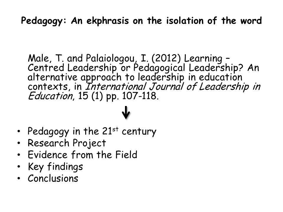 Pedagogy: An ekphrasis on the isolation of the word
