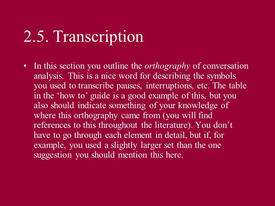 2.5. Transcription