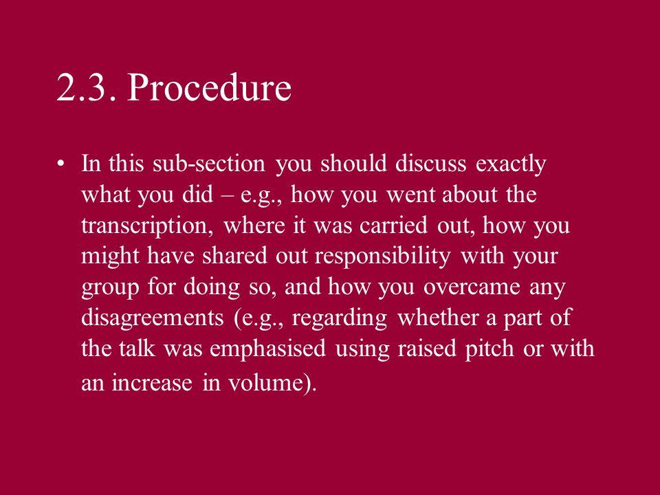 2.3. Procedure