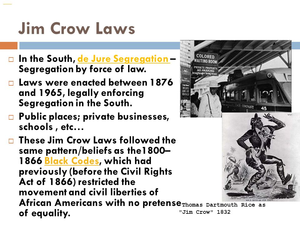 The Jim Crow South. - ppt download