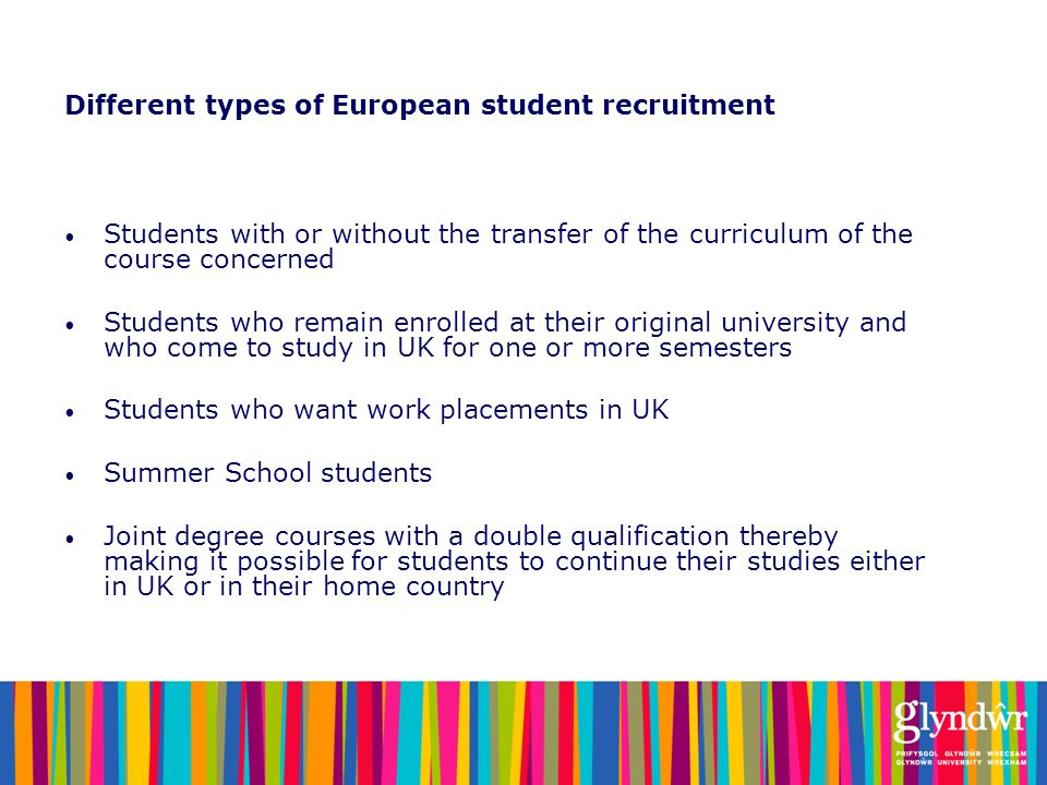 Different types of European student recruitment