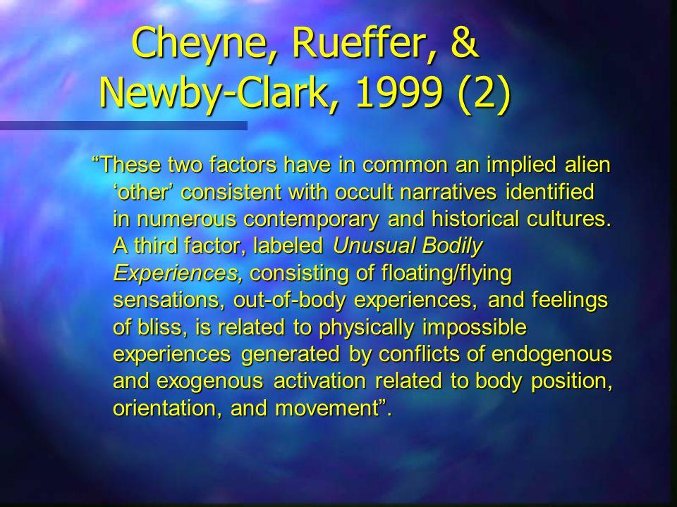 Cheyne, Rueffer, & Newby-Clark, 1999 (2)