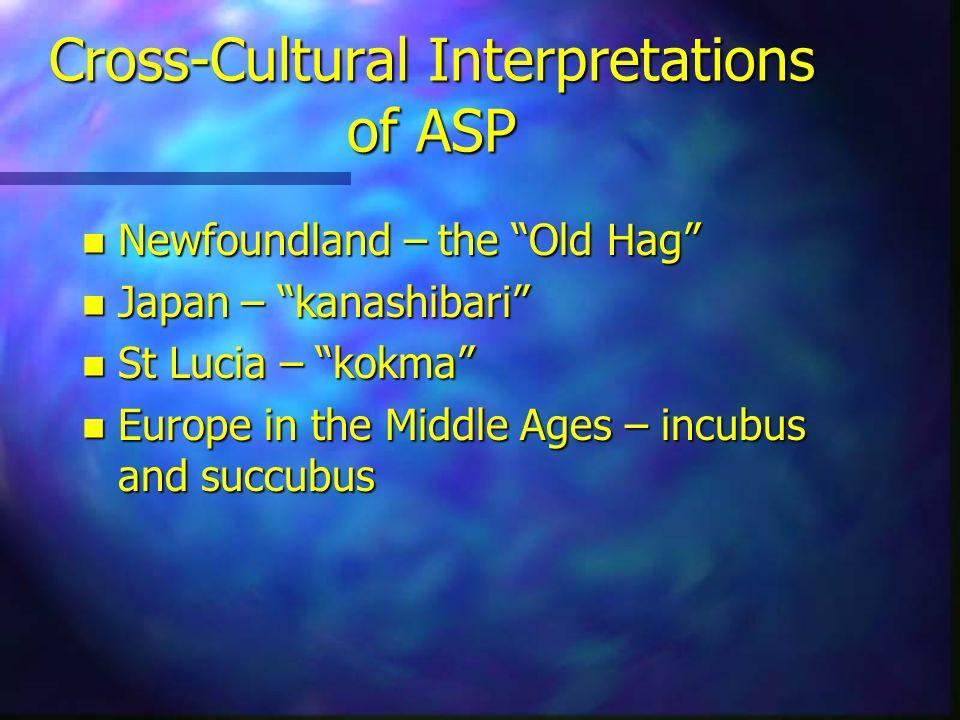 Cross-Cultural Interpretations of ASP