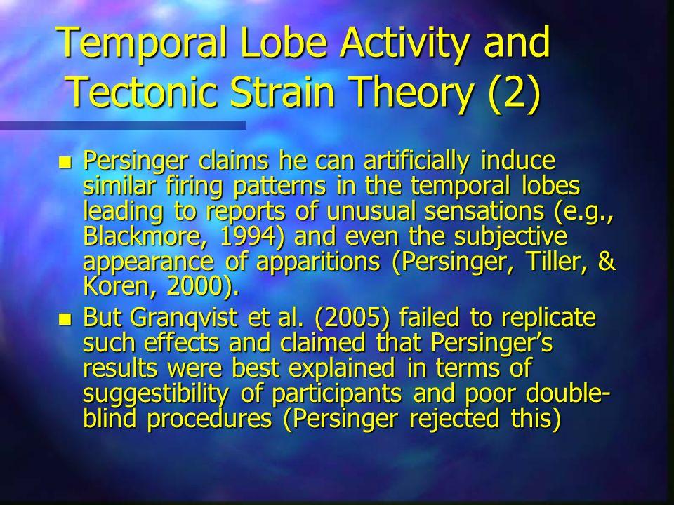 Temporal Lobe Activity and Tectonic Strain Theory (2)