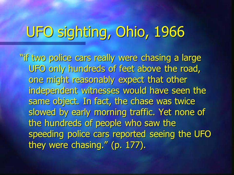 UFO sighting, Ohio, 1966