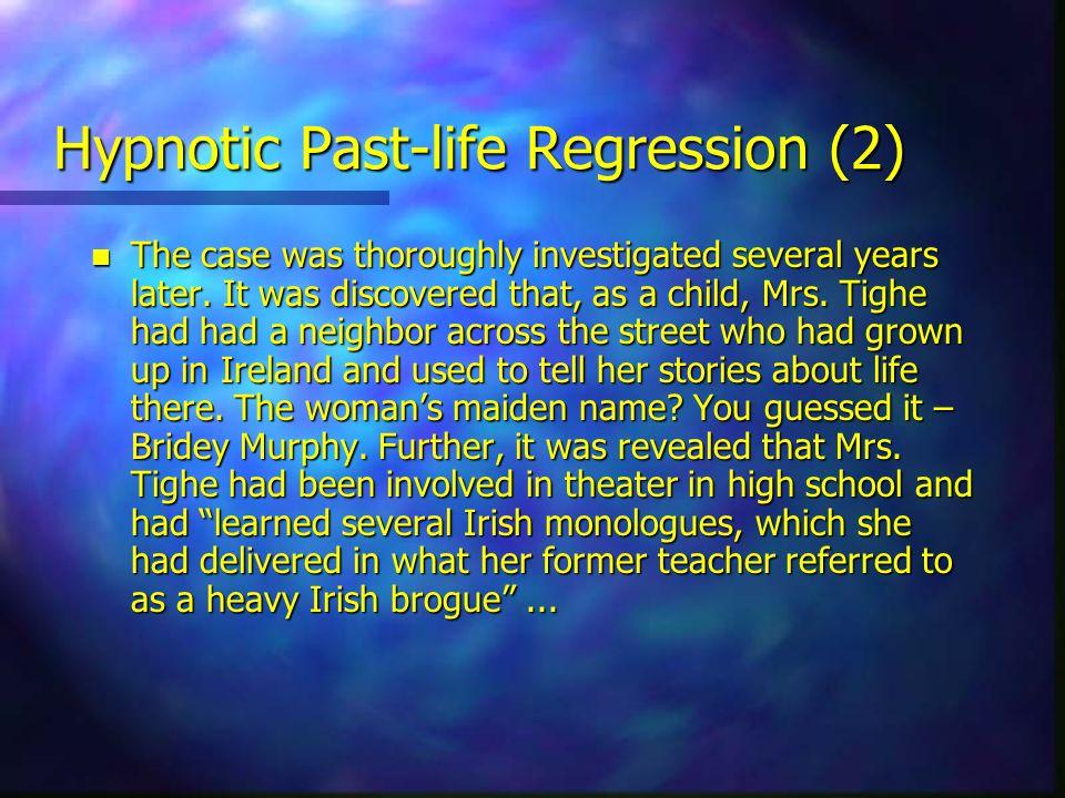 Hypnotic Past-life Regression (2)
