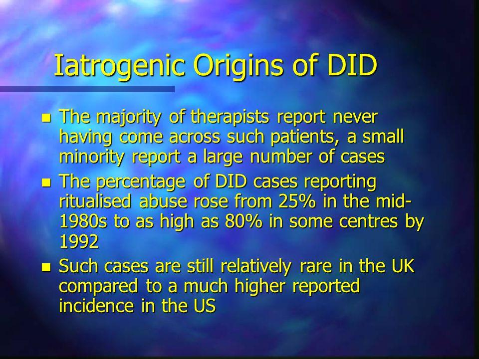 Iatrogenic Origins of DID