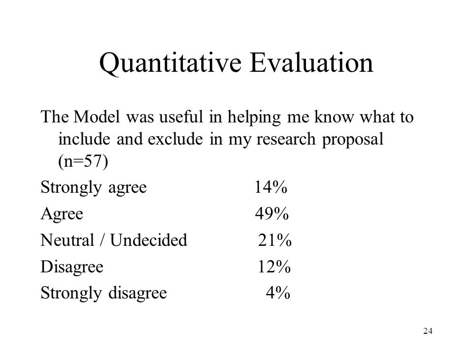 Quantitative Evaluation
